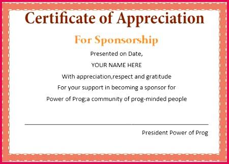 certificate appreciation for donation template best plaque of appreciation template
