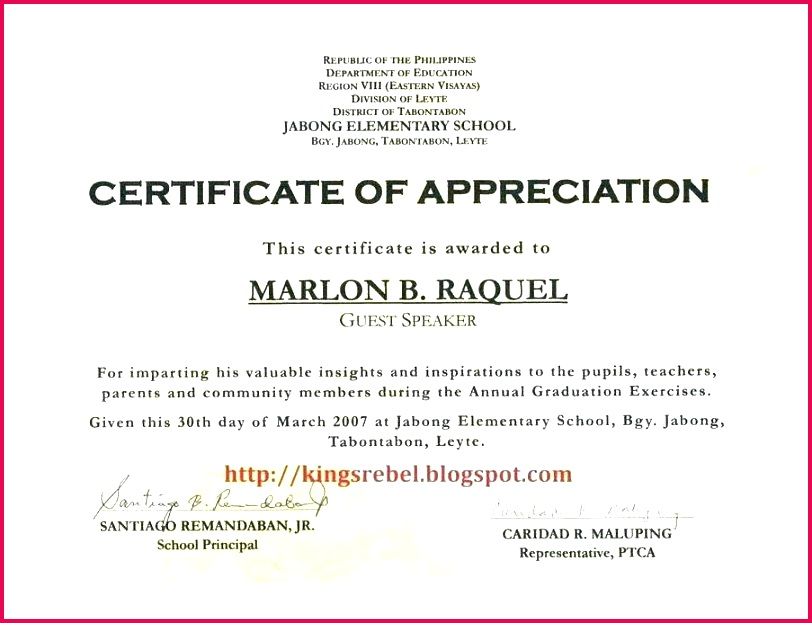 certificate of appreciation for speakers template magnificent sponsorship wording teachers