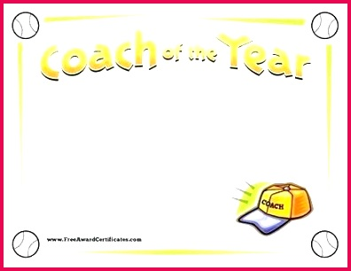 athletic certificate template sports for ms word at athlete coach of the year baseball award free templates crick
