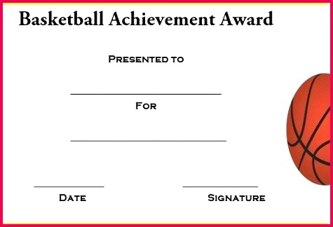 basketball award templates word professional certificate free printable template certific