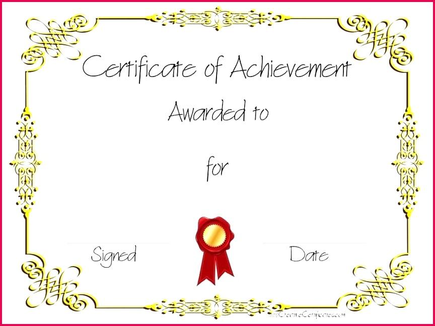 Certificate Achievement Template Free Pics Turabian Template 0d – Template Free Sports Certificate Templates