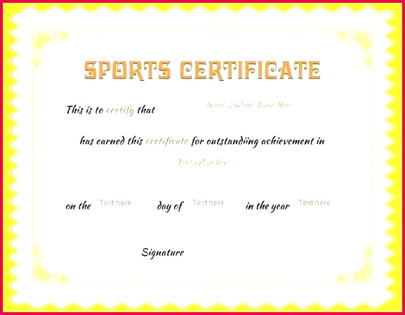 outstanding achievement award template certificate sports awards templates free academic outstandi