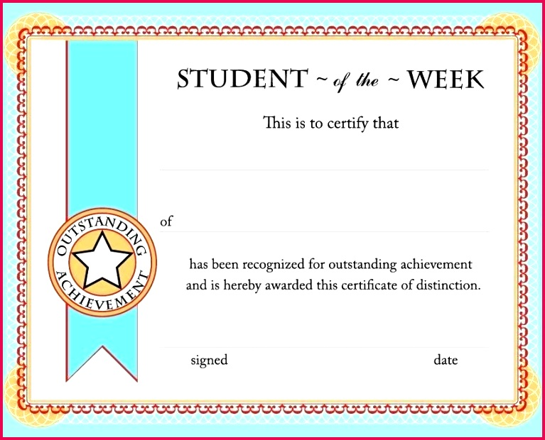 student of the week certificate free printable star template poster