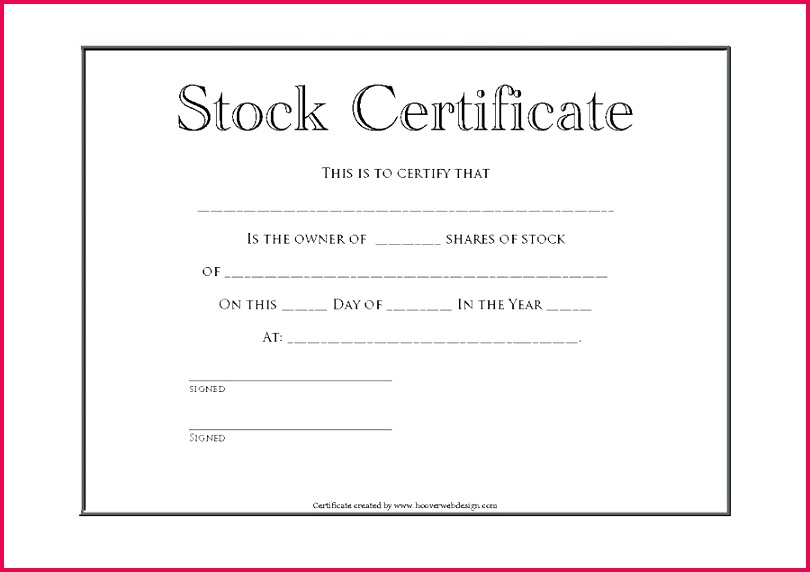 free stock certificate template templates word a lab share