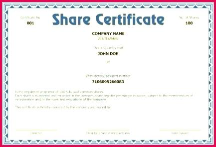 corporate stock certificate template beautiful example canadian share choice image certifi