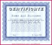 6 Stock Certificates Templates with Gold Seal