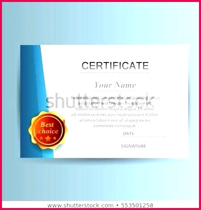 design certificate template business education award stock vector with or illustration ce