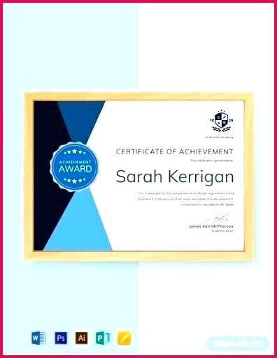 free academic achievement certificate template award word