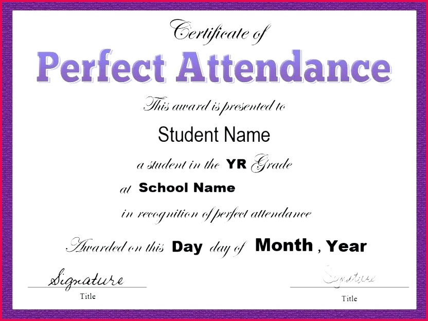 attendance certificate template word templates in format new awesome perfect award student definition c certifi