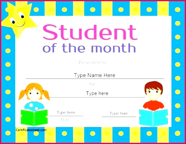 free printable student of the month certificate templates gallery awards for students middle school certificates