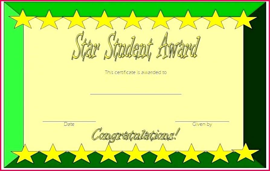 star student certificate templates super award printable shining of the week template