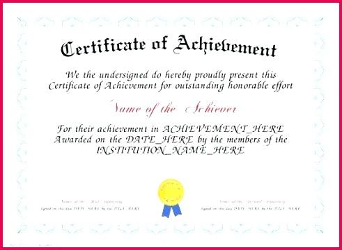 academic achievement certificate template award printable free
