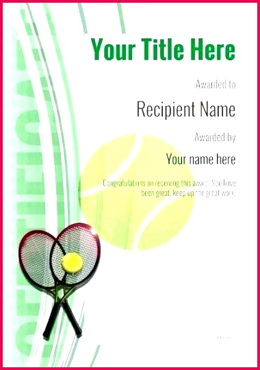 certificate template tennis modern image table templates free certificates shoe