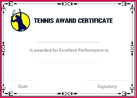 free tennis certificate templates customize print for template printable