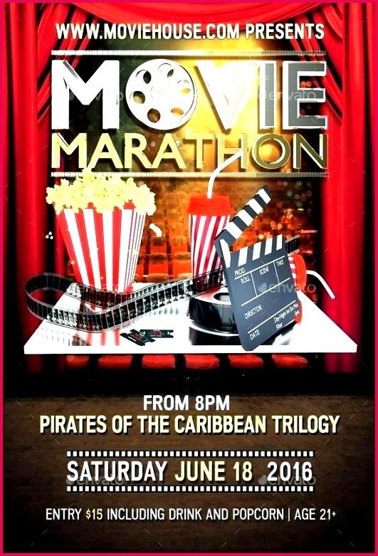 talent show flyer template movie marathon certificate free poster psd