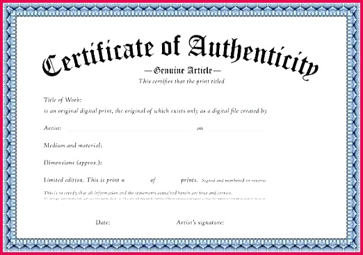 signature certificate of authenticity template free printable certificate authenticity templates how to signature certificate of authenticity template