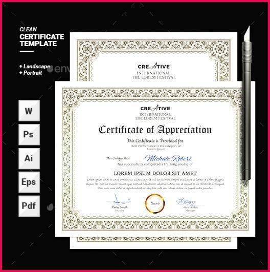Performance Certificate Template