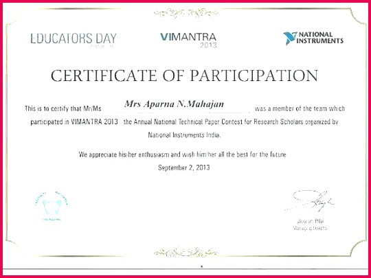 sample certificate of participation and best s pageant images pictures