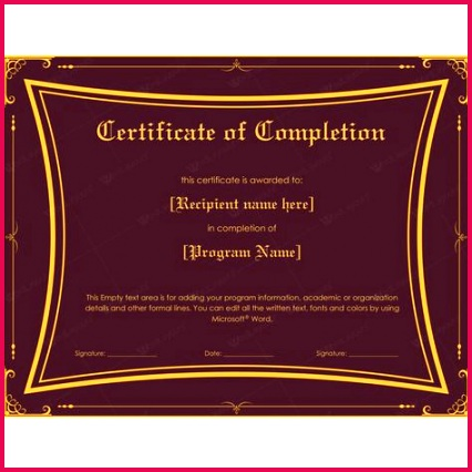 editable award certificate template best of 50 template for certificate pletion of editable award certificate template