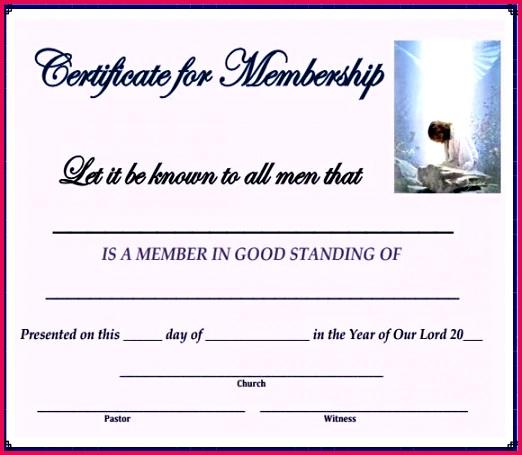 membership certificate template church sample
