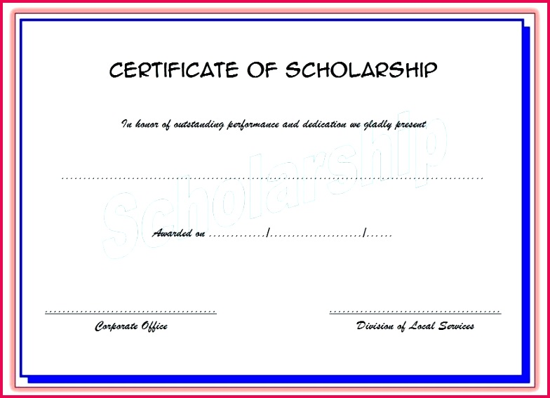 scholarship award certificate template ideas templates for flyers and brochures free printable memorial wo