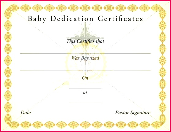 baby dedication certificate template free page 1 how to make