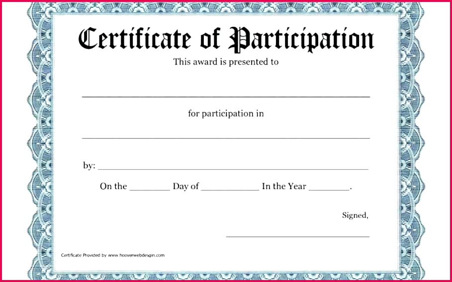 printable certificates of participation certificate template free for in workshop