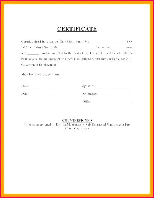 elegant training certificate template free perfect attendance