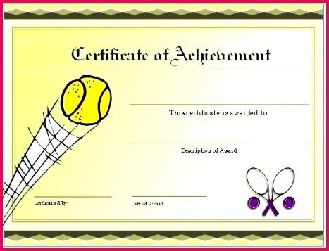 free tennis certificates on world t certificate template