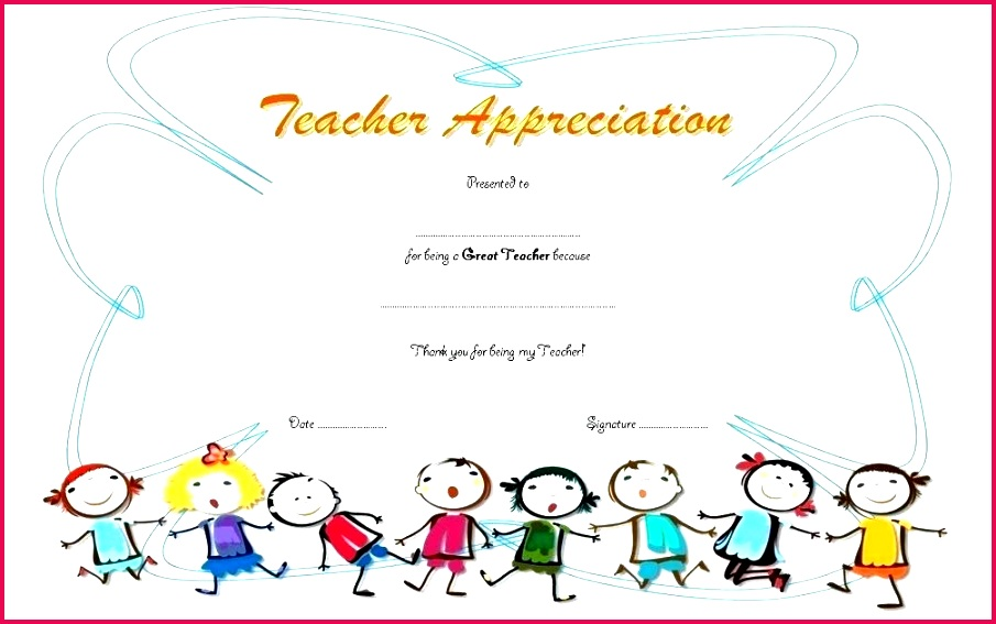 printable teachers appreciation week certificates awards templates teacher funny thank you for best award template