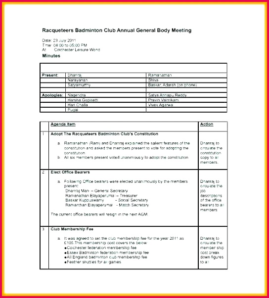 the best meeting minutes templates for professionals word secretary toastmasters template club 8 free sample example format swim