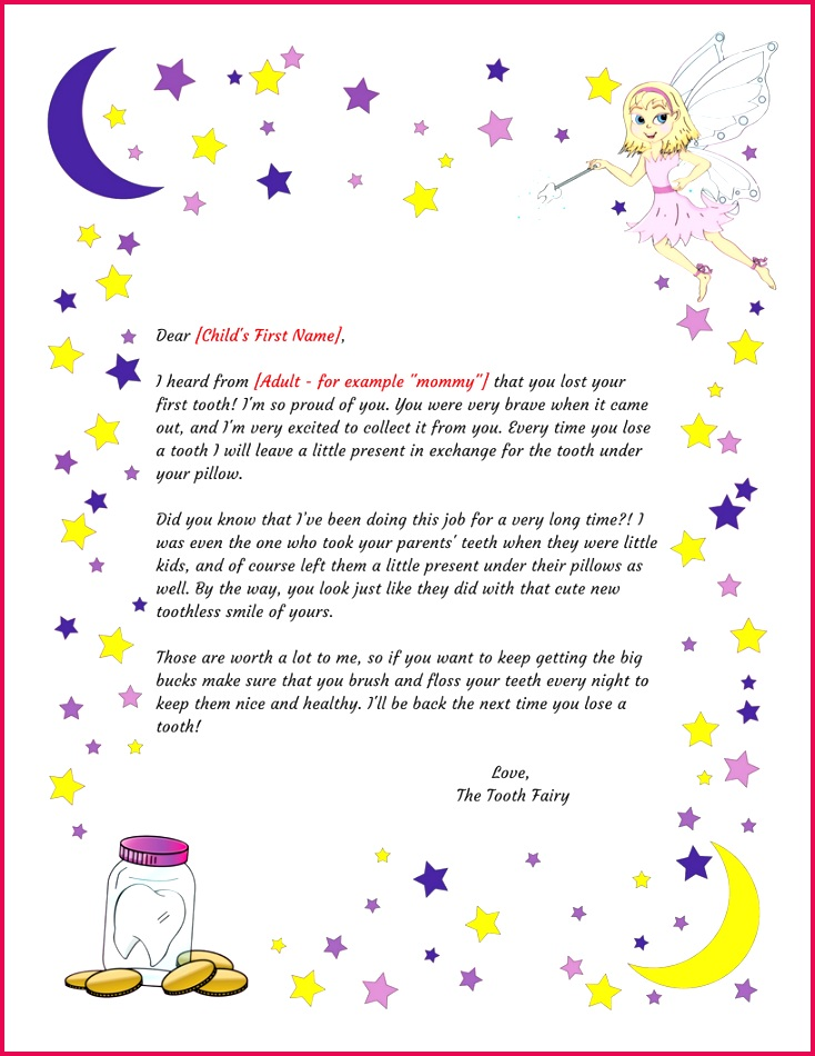 tooth fairy letter first tooth printable intended for tooth fairy letter