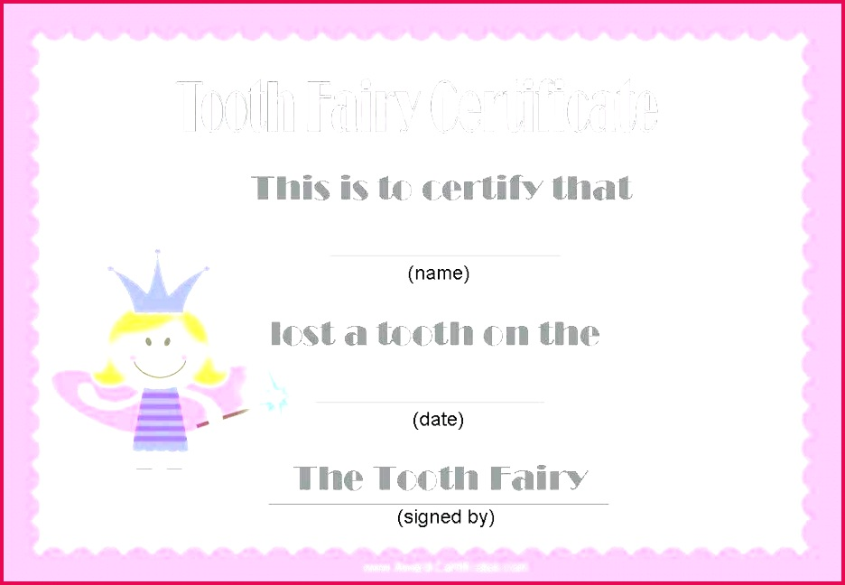 tooth fairy certificate template free letter word printable and envelope to use share or modify timeline templates for google slides