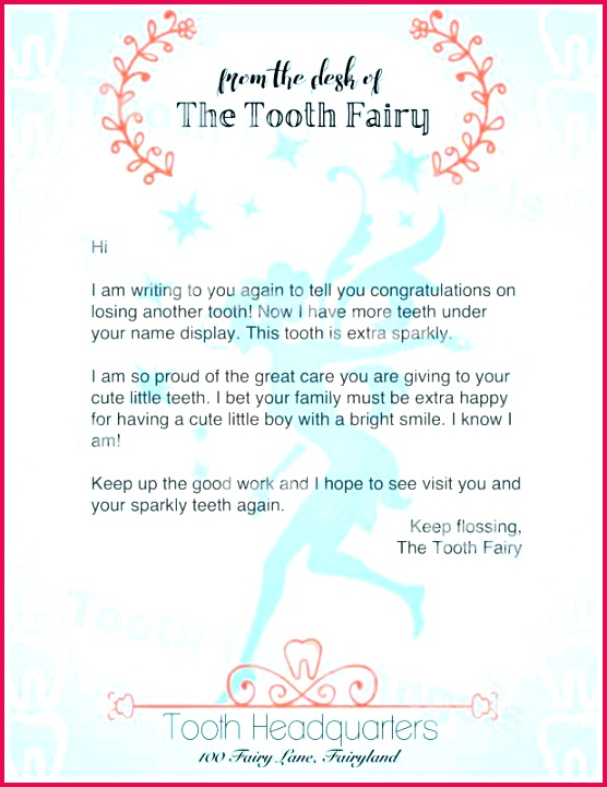 tooth fairy letter template boy new printable from the girl