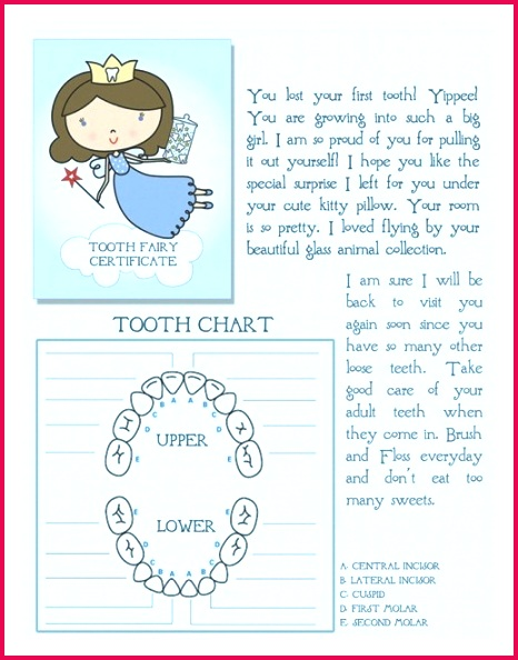 Free Tooth Fairy Letter