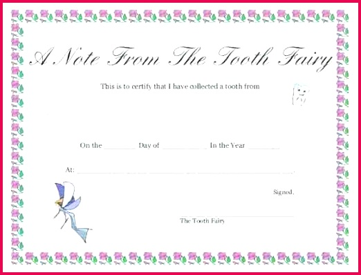tooth fairy letter template receipt editable free uk