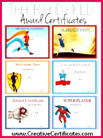 Track and Field Award Certificate Templates Education Certificate Award Certificates Certificate Templates Certificate