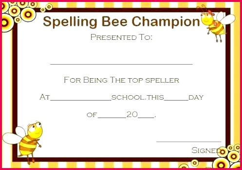 spelling bee certificate template best of participation make in word sample how to format pdf partici
