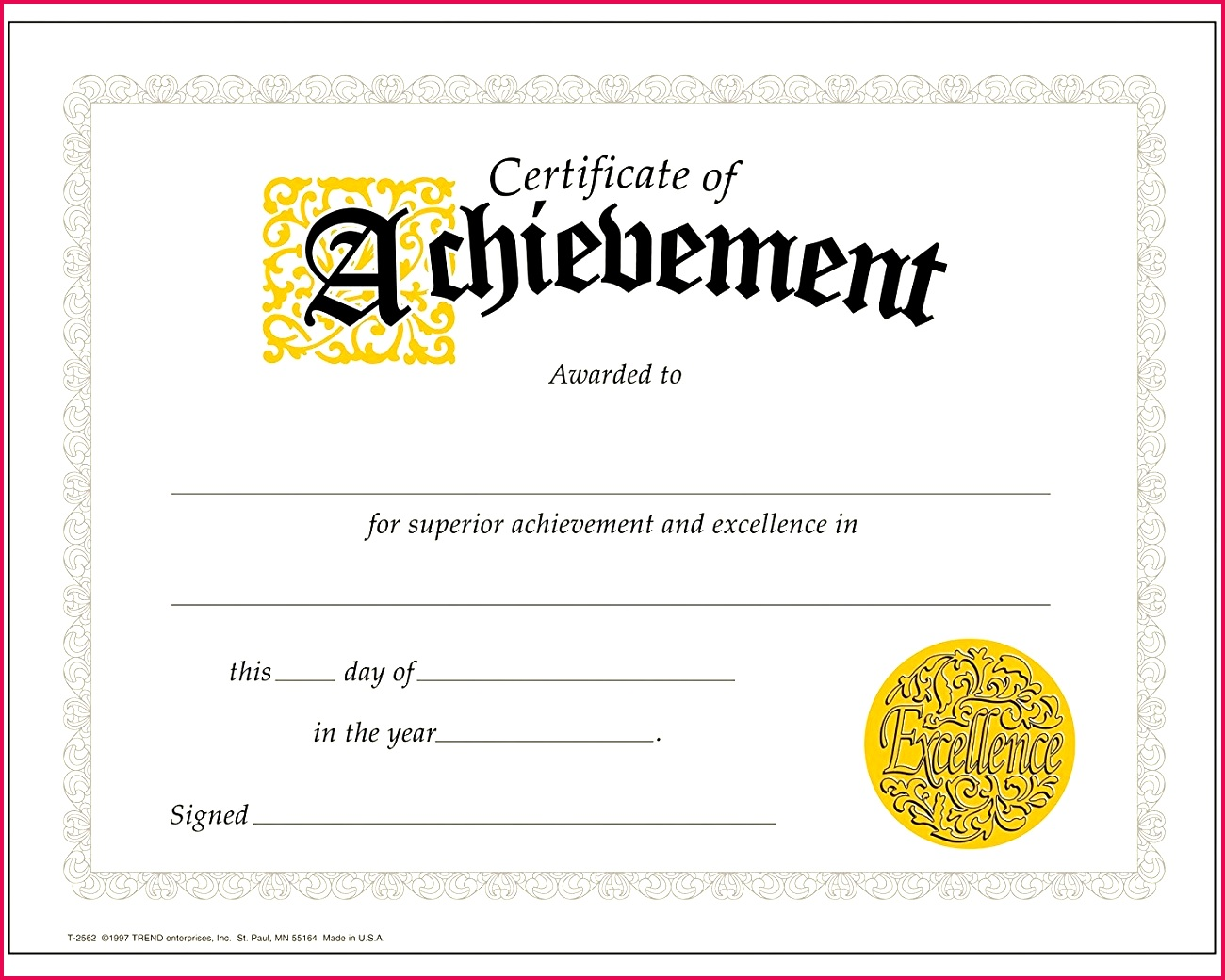 achievement certificate best of trend enterprises classic certificates certificate of achievement PDF