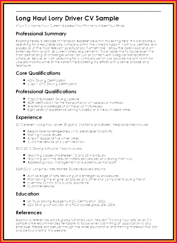 driver cooperative resume format in word luxury 8 of flexible plus with template doc european cv docx pl