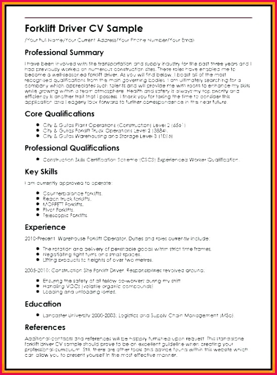 sample for driver delivery cv template definition powerpoint 8