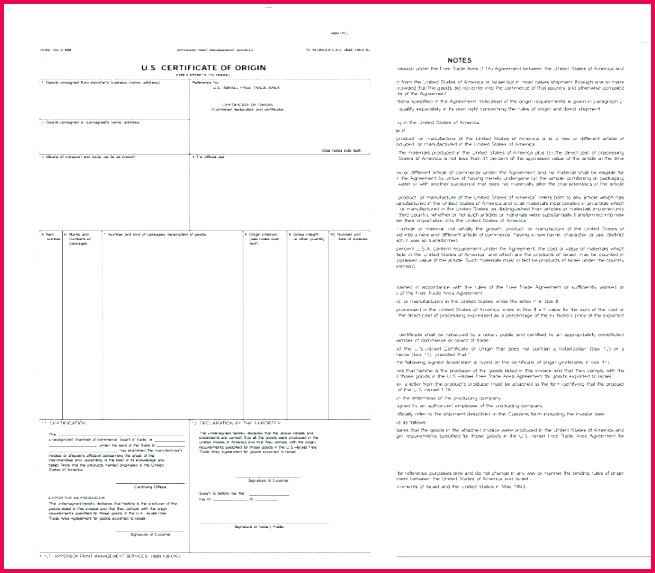 manufacturer certificate of origin template unique word ex nafta canada fillable best te us new images title statement