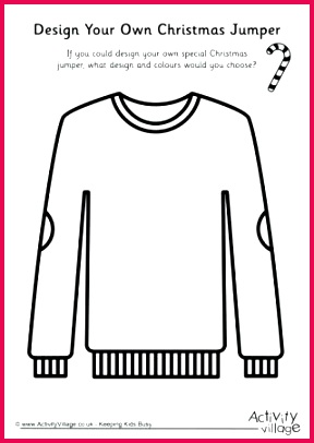 ugly sweater template as t certificate inside activity village christmas templates