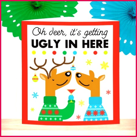 ugly christmas sweater centerpiece2