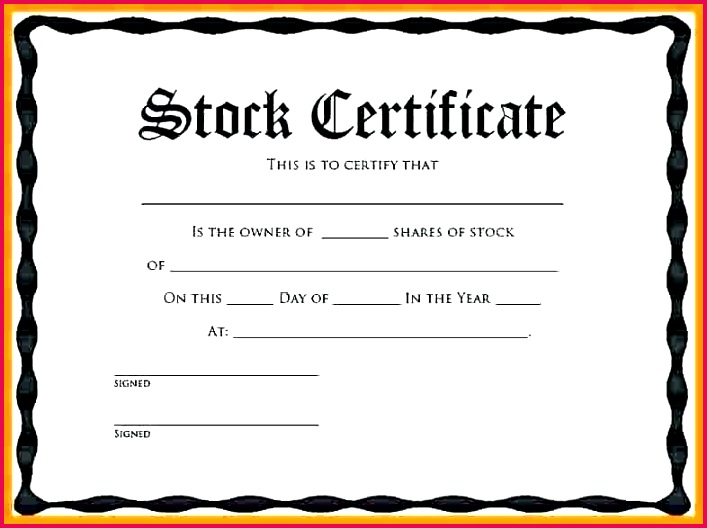 unique stock certificate template word shareholder share free uk child care resume te
