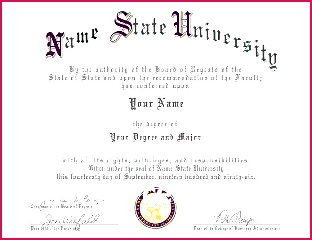 6 University Diploma Certificate Templates 86595 ...