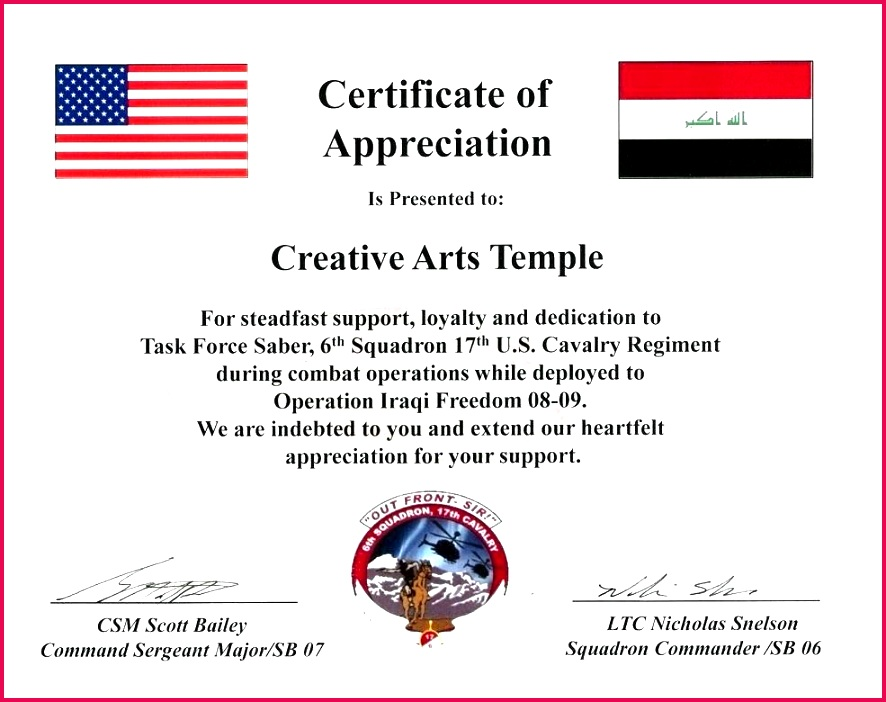 department military certificate templates of appreciation template free the army achievement form read royal blue