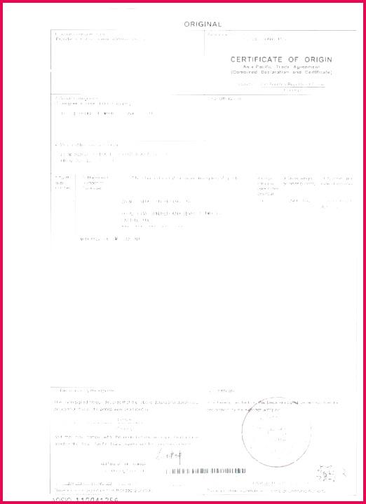 Nafta Certificate