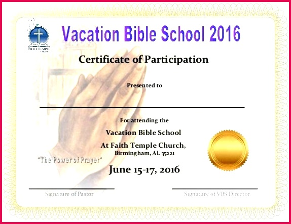 vbs certificate 2017 template