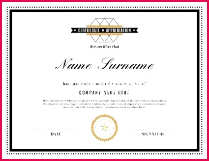 free printable volunteer certificates of appreciation lovely retro frame certificate template vector sample templ